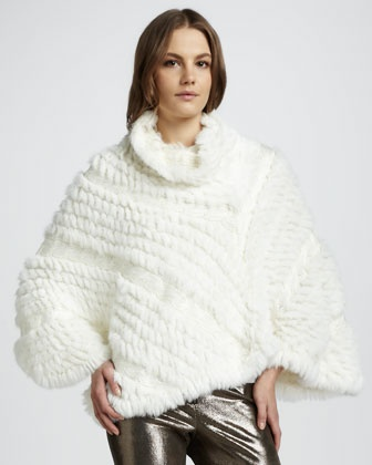 Lexy Fur Poncho by Alice + Olivia at Neiman Marcus.