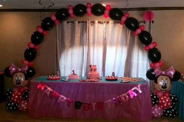 Minnie Mouse Birthday Balloon Party Theme ~ Tulsa, OK  Ideas monas ...