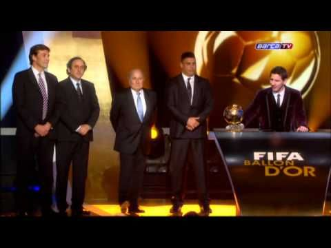 Messi winning the balon d'Or