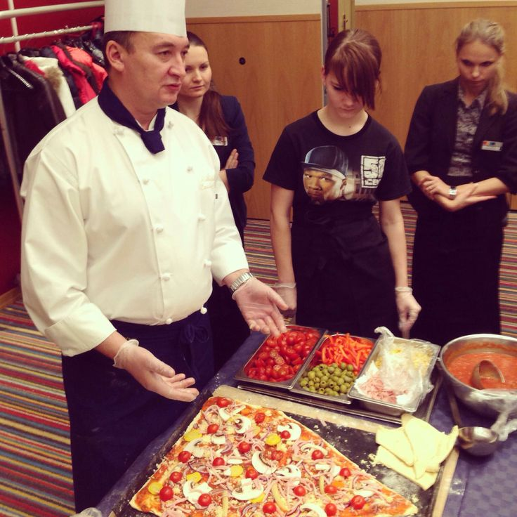"Our chef gives a master class for children from social orphange ""Transit""! This is the first master class on cooking pizza in the shape of a Christmas tree in St. Petersburg! /Park Inn by Radisson Pulkovo Airport/"