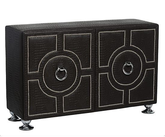 Tapicerowana komoda Wild Glam. Styl nowojorski glamour.// Upholstered chest of drawers in New York and Glamour style.