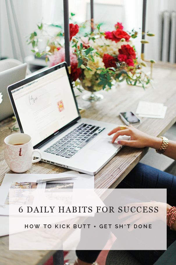 6 daily habits for success