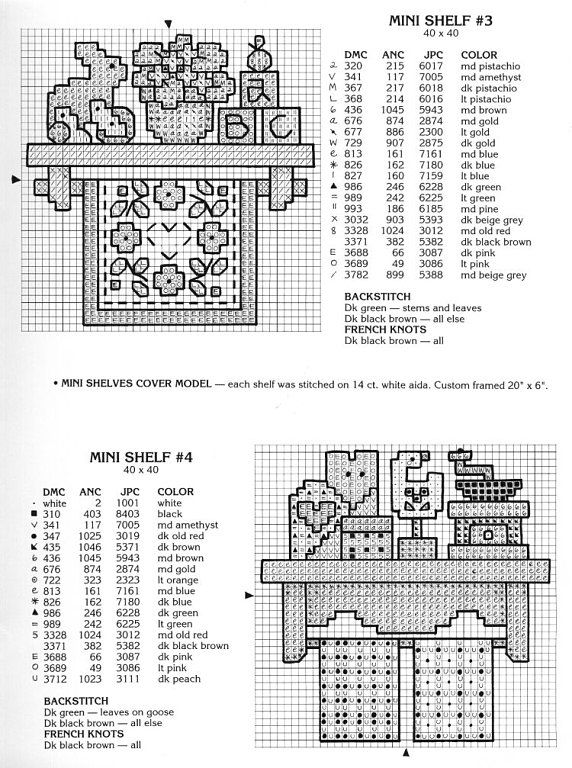 Patrones punto de cruz (solo country) (pág. 34) | Aprender manualidades es facilisimo.com