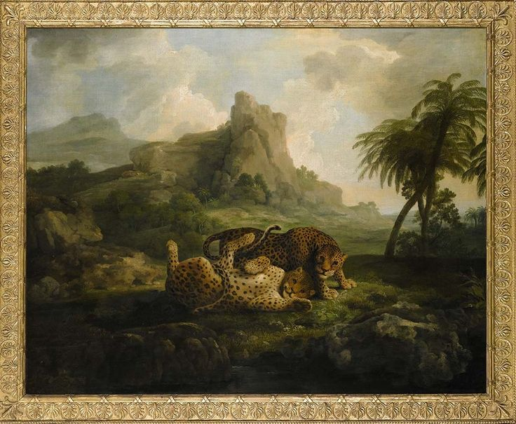 'Tygers at Play' by George Stubbs. Via Fitzwilliam Museum's Twitter page.