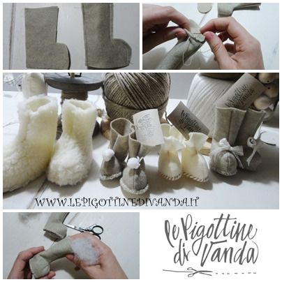 Ecco in pochi passaggi come si creano le scarpine delle bambole.