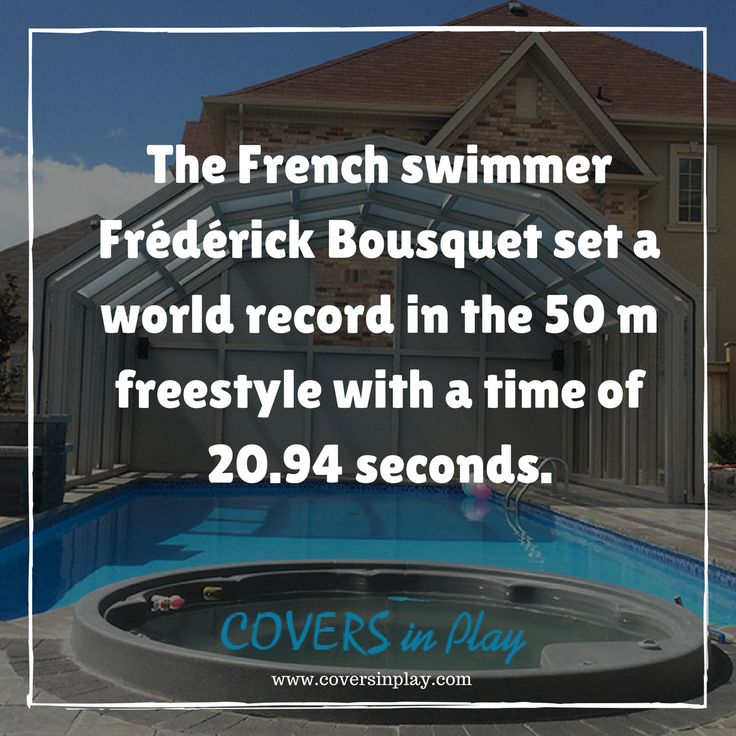 Over the course of the race, he swam at an average speed of 5.342 mph (8.6 km/hr) and is the fastest recorded speed of a human swimming. http://www.coversinplay.com #Facts #FastestSwimmer #PoolCover #Cover #Enclosure  #IndoorPools #SwimmingPool