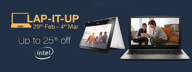 See the best hand picked laptops with up to 25% off and also get 1% extra cash back on shopping with us.  http://www.couponskingdom.in/2016/02/amazon-india-laptop-offers-get-up-to-25.html