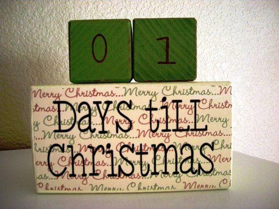 Christmas Countdown Wood Blocks