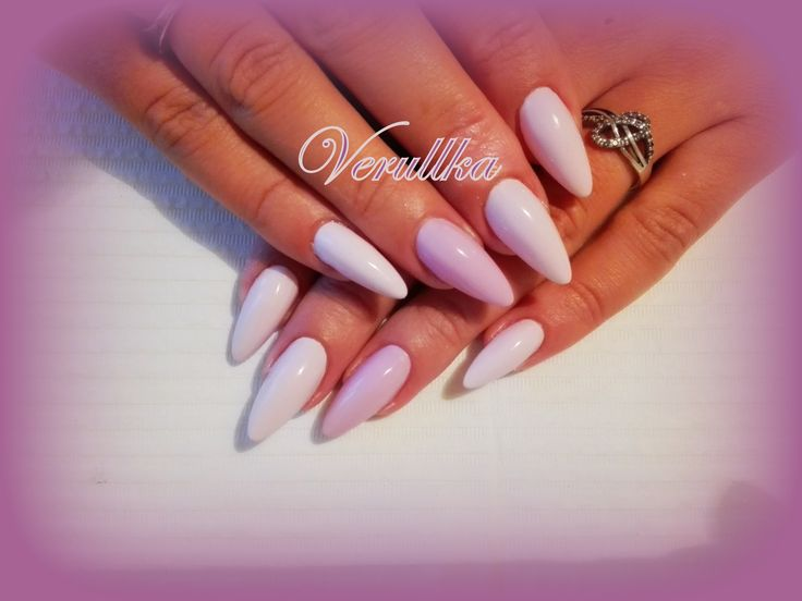 Pastel pink and purple gel nails