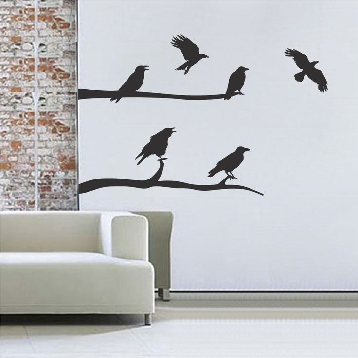 crow decal stickers - Halloween Wall Decoration