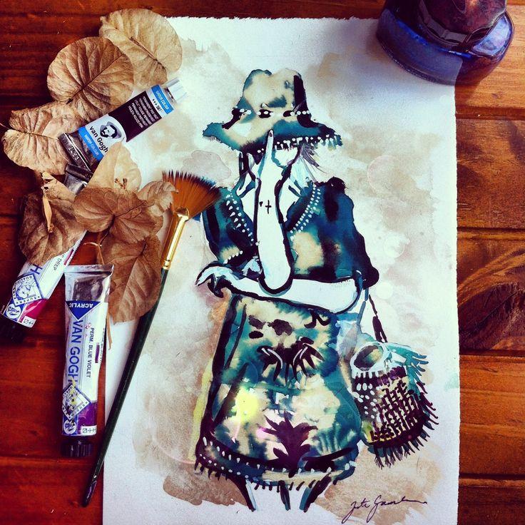 Fashion Illustration  - Bronte Goodieson available in print - #fashionillustration
