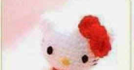 Para los incondicionales de la famosa Hello Kitty, os dejo esta vez un patrón de la gatita pero de tamaño mini.    Patrón de mini Hello Kitt...