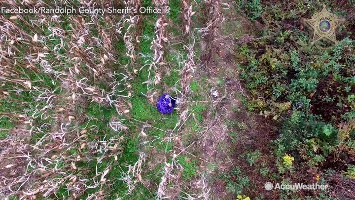 POLICE  DRONE Finds Missing 81-year-old woman with dementia  Nov 5 in North Carolina in 25 Minutes. The Randolph County Sheriff's  ffound her  nearby cornfield and might have gotten lost in the cold weather had the drone not enabled deputies to…