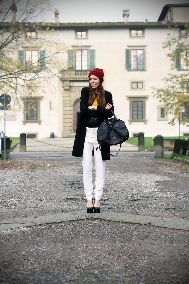 #fashion #fashionista Irene pantaloni bianchi in inverno