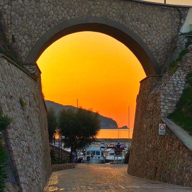 Sunrise port side of Sperlonga