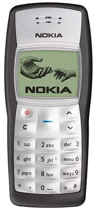 Nokia 1100. Mommy's old phone. She loved this phone.