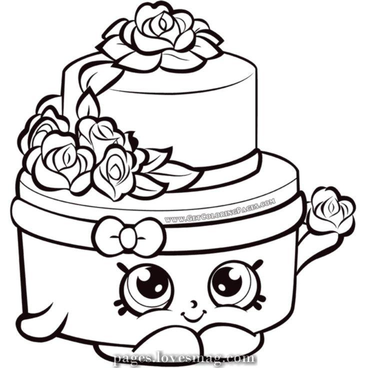 Luxurious Shopkins Season 7 Wedding Ceremony Cake Coloring Web Page Shopkin Coloring Pages Shopkins Colouring Pages Shopkins Colouring Book