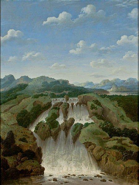 Cachoeira de Paulo Afonso ~ Frans Post - Holandês - Barroco Brasil Colonial