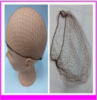 """FREE SHIPPING (144pcs/lot) 5mm Nylon Hair Nets Invisible Disposable Hair Net 20"""" Three Colors Optional Hairnet for Wigs&Weaving"""