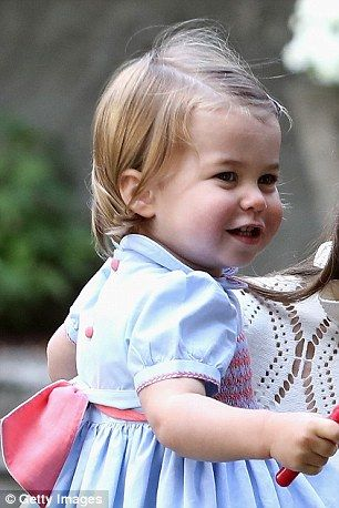Princess Charlotte at a children's party for military families during the Royal Tour of Ca...