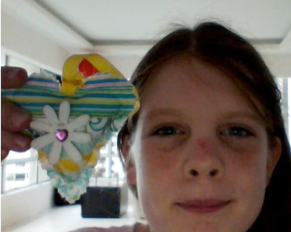 I found a Flower Heart!  Here is the picture of the heart I found at Uplands School, Penang. I really like it, thank you whoever it was made it! #IFAQH #ifoundaquiltedheart