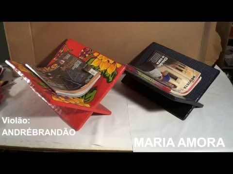 Porta-revista de papelão / cardboard magazine rack / revistero de cartón - YouTube