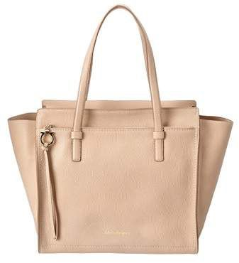 Salvatore Ferragamo Amy Large Leather Tote, Pink   Leather totes ... 1451a49128