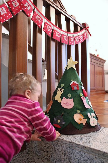Emma and her tree by martina@stashmania, via Flickr ... advent calendar