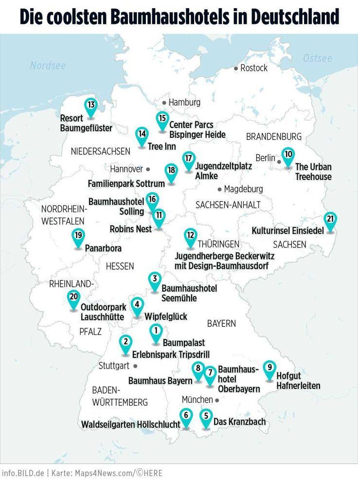 Die 21 coolsten Baumhaushotels in Deutschland - http://TRAVELBOOK.de