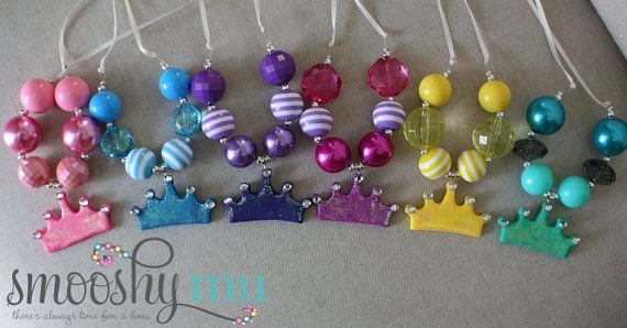 Smooshy Mu princesse Tiara collier cotillons  1er par mySmooshyMu, $84.50