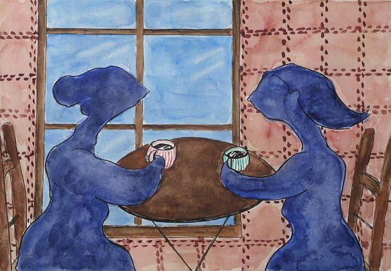 Original watercolour fantasy painting OOAK best by TremblingRhymes