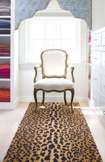 Dash Albert Leopard Print Wool Rug Animal Print Floor Rug