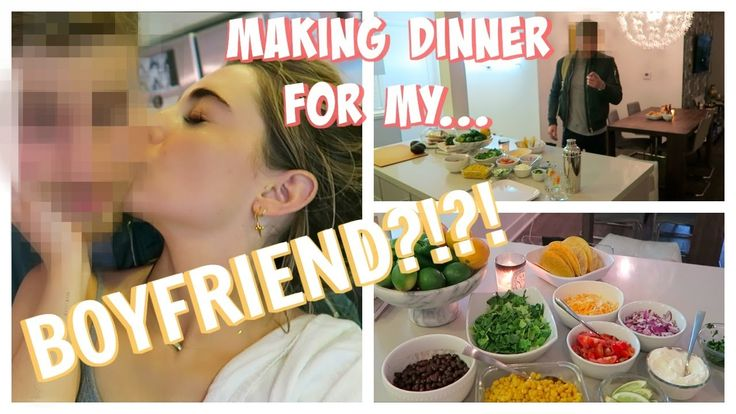 COOKING MY BOYFRIEND DINNER FOR THE FIRST TIME!