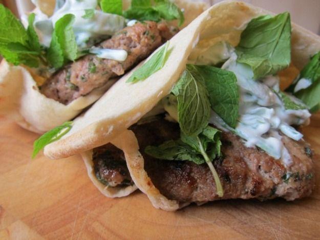 Lamb Burger with Chunky Mint Tzatziki