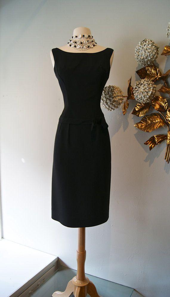 60s Dress / Vintage 1960's Little Black Cocktail by xtabayvintage, $198.00