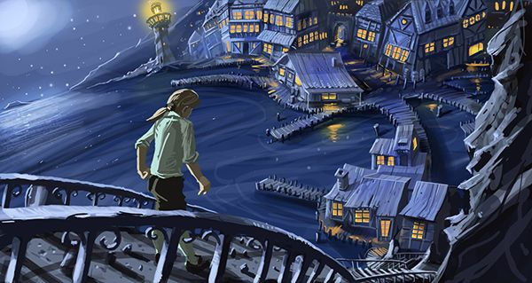 First arrival by AdoC in Classic LucasArts Adventure Games: Best Fan Artworks (Monkey Island)