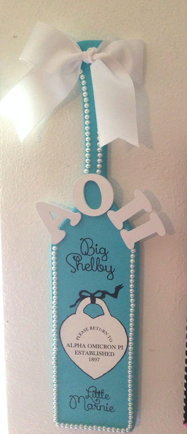 AOΠ Tiffany paddle #sorority