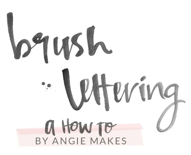 how to make modern brush lettering and edit in photoshop | angiemakes.com.