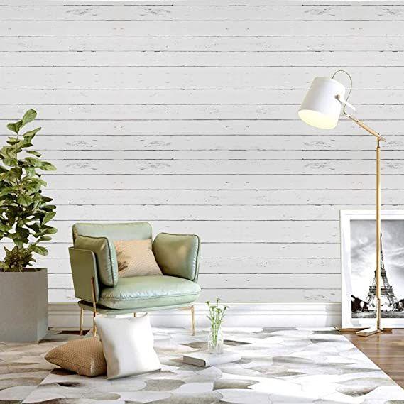 White Wallpaper Wood Self Adhesive Wallpaper Wooden Stripe Wallpaper Streak Peel And Stick Wallpaper White In 2020 Wallpaper Living Room Wood Wallpaper White Wallpaper