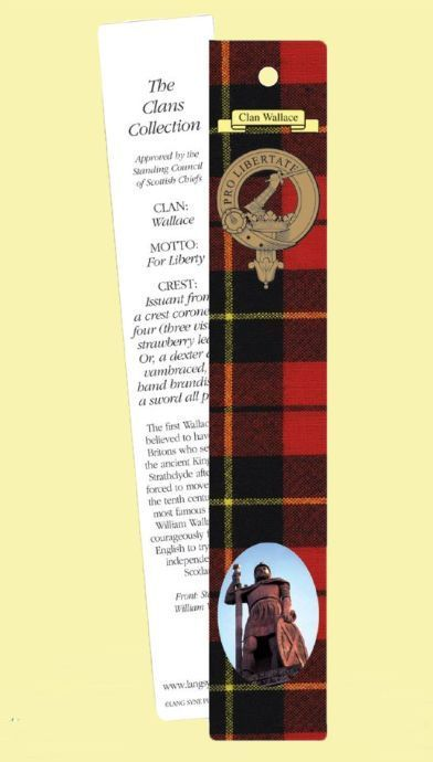 For Everything Genealogy - Wallace Clan Tartan Wallace History Bookmarks Set of 2, $3.00 (http://www.foreverythinggenealogy.com.au/wallace-clan-tartan-wallace-history-bookmarks-set-of-2/)