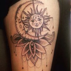 Beautiful sun and moon Tattoo ideas for women!
