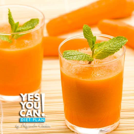 Apple Carrot and Celery Juice - A healthy option for your Yes You Can! Diet Plan drink