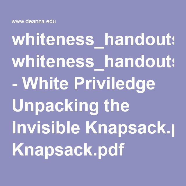 white privilege analysis The lies of 'white privilege' by  crosley-corcoran wrote the following when after she questioned white privilege since she grew up poor and this was her analysis and thought process when she .