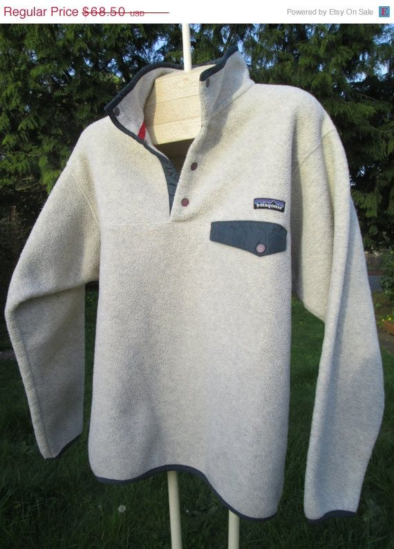 Spring sale Vintage Patagonia Fleece front snap T by Simplemiles, $54.80