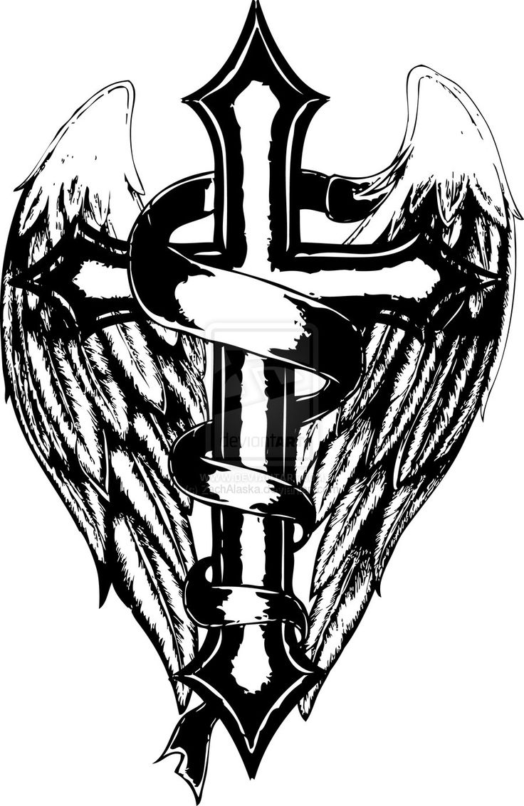 Crosses, Wings and Coloring pages on Pinterest
