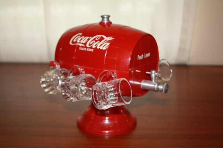 MINT***** 1950's Coca Cola Syrup Dispenser W/ Glass Mugs