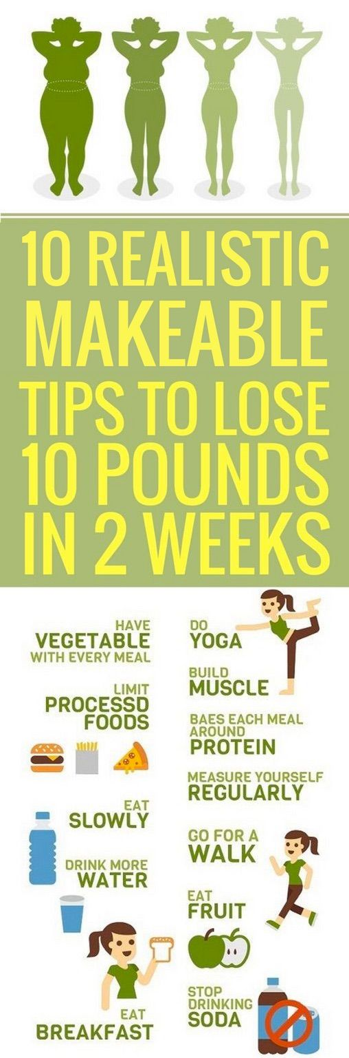 10 realistic ways to lose your last 10 pounds in 2 weeks.
