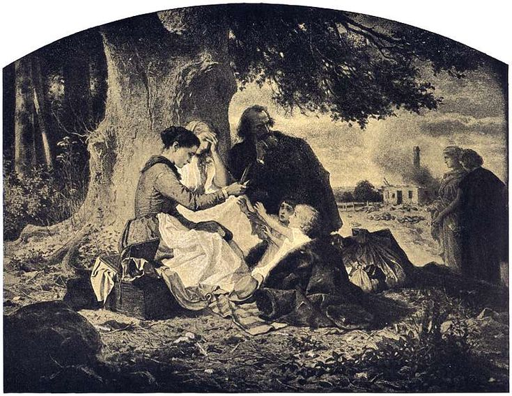 Artur Grottger - Wojna, VI. Głód, 1867