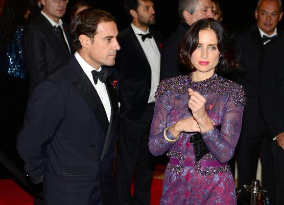 Miguel Báez 'El Litri' con su esposa Carolina Herrera en la gala contra el sida en Barcelona