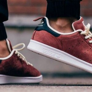 Adidas Stan Smith Red On Foot